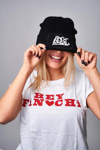 """FiNCH ASOZiAL """"Logo"""" Beanie schwarz"""